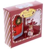 Christmas Santa Door with Wishes Jar