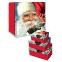 Christmas Traditional Santa Nesting Boxes 3 Pack