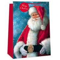 Christmas Traditional Santa Jumbo Gift Bag