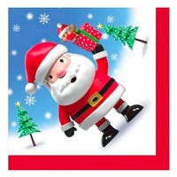 Christmas Santa and Robin Napkins 20 Pack