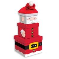 Christmas Santa Hat Nesting Boxes 3 Pack