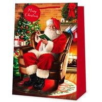 Santa on a Chair Super Jumbo Gift Bag