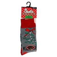 Santa Socks in Kiss Me Ladies Size 4-7