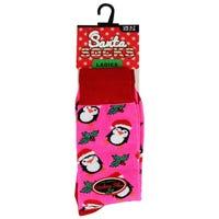 Santa Socks in Penguin Ladies Size 4-7
