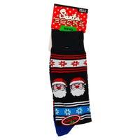 Mens Novelty Christmas Socks in Santa Design 6-11