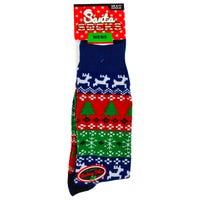 Mens Novelty Christmas Socks in Christmas Tree Design 6-11