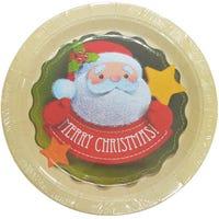 Santa and Star Paper Plates 8 Pack