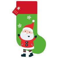Christmas Stocking with Novelty Santa Legs
