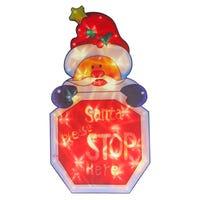 Santa Stop Silhouette Window Light 45cm