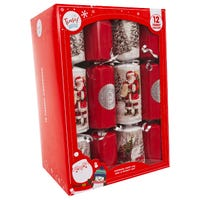 Tinsel Town Santas List Christmas Crackers 12 Pack
