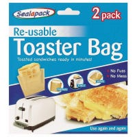 * Toaster Bags Twin Pack Reusable
