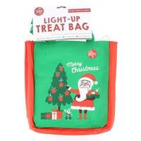 Santa & Christmas Light UpTreat Bag