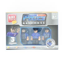 Block Tech Figures Police Response 3 pack