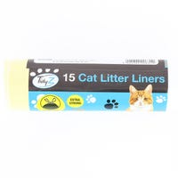 Cat Kitten Large Litter Tray Liners Extra Strong Drawstring 15 Pack