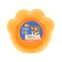Plastic Paw Shape Doggy Bowl Orange