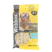 Webbox Dog Chomping Chews 200g Chicken