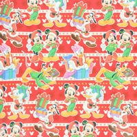 Christmas Gift Wrap Disney Mickey and Friends Red 6m