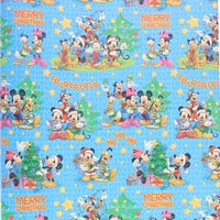 Christmas Gift Wrap Disney Mickey Blue with Stars 6m