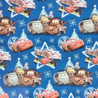 Christmas Gift Wrap Disney Cars Blue 6m