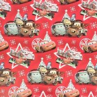 Christmas Gift Wrap Disney Cars Red 6m
