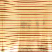 Traditional Foil  Holographic Gift Wrap Gold and Red 3m