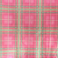 Traditional Foil  Holographic Gift Wrap Tartan Cheque 3m