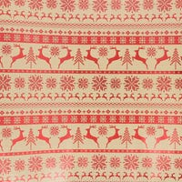 Traditional Foil  Holographic Gift Wrap Reindeer 3m