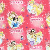 Christmas Gift Wrap Disney Princess Sparkle 6m