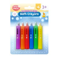 Scribble and Wipe Bath Crayons 6 Pack