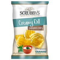 Scrubbys Creamy Dill Hummus Chips 125g