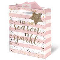 Christmas Tis The Season To Sparkle Medium Gift Bag