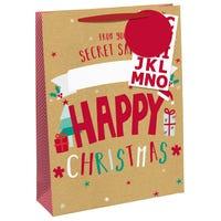 Christmas Secret Santa Large Gift Bag