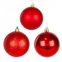 Shining and Matt Red Baubles 5cm 12 Pack