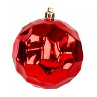 Shining Red Bauble 10cm 2 Pack