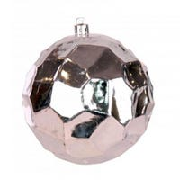 Shining Silver Bauble 8cm 3 Pack