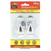 Strong As An Ox Removable Hook Chrome 2 Pack