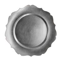 """Charger Plate Wavy Edge Silver 13"""""""