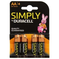 Duracell AA Batteries 4 Pack
