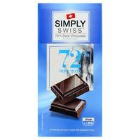 Simply Swiss 72% Dark Chocolate 100g