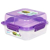Sistema Lunch Stack Square To Go Purple 1.24L