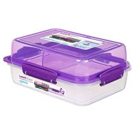 Sistema Lunch Stack Rectangle To Go Purple 1.8L