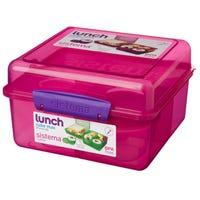 Sistema Lunch Cube Max Pink 2L