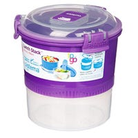 Sistema Lunch Stack To Go Purple 965ml