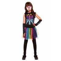 Halloween Multi-Colour Skeleton Costume 4-6 Years