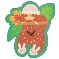 Sloth Sleeping Picture Clock