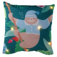 Sleeping Sloth with Stars LED Cushion