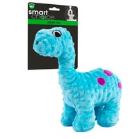 Plush Dinosaur Dog Toy with Squeaker in Blue