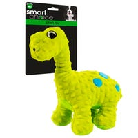 Plush Dinosaur Dog Toy with Squeaker in Green