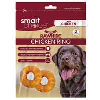 Smart Choice Rawhide Chicken Rings 2 Pack