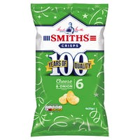 Smiths Crisps Cheese and Onion 6 Pack